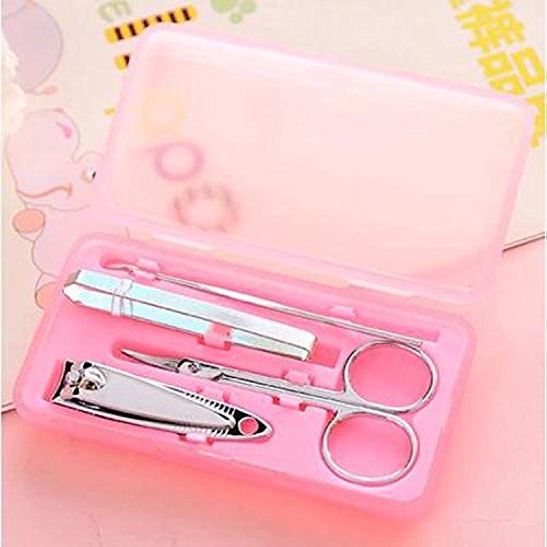 服キャンドル水星CELINEZL CELINEZL 4セットのステンレス鋼の爪切り、ランダムな色配達 (色 : Color1)