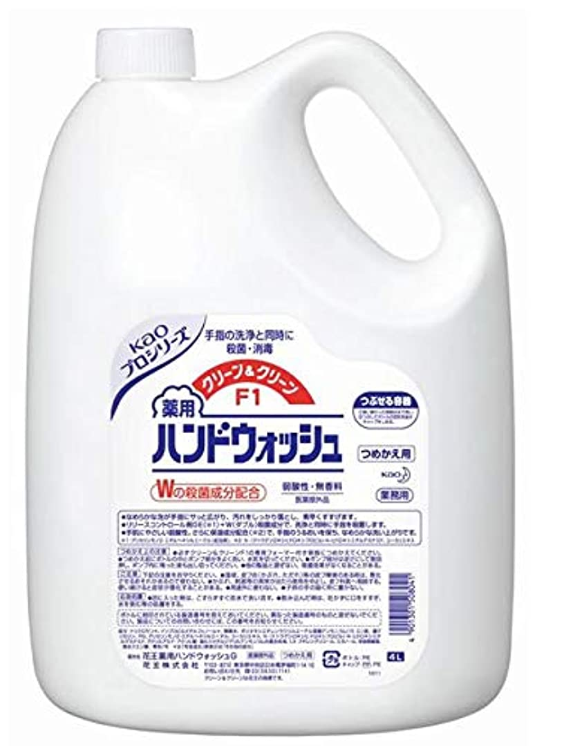 撤回する国籍活気づく花王 クリーン&クリーンF1 薬用ハンドウォッシュ 4リットル 3缶セット