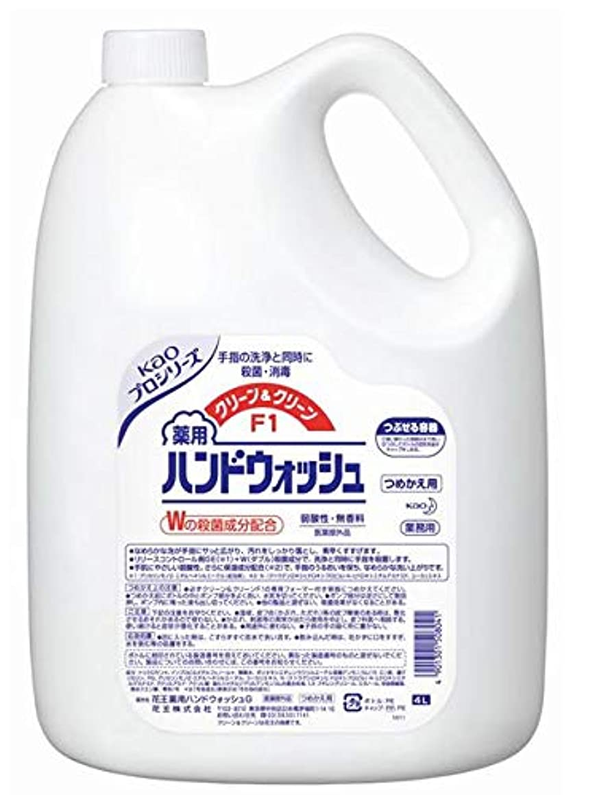 黙息苦しい時間花王 クリーン&クリーンF1 薬用ハンドウォッシュ 4リットル 3缶セット