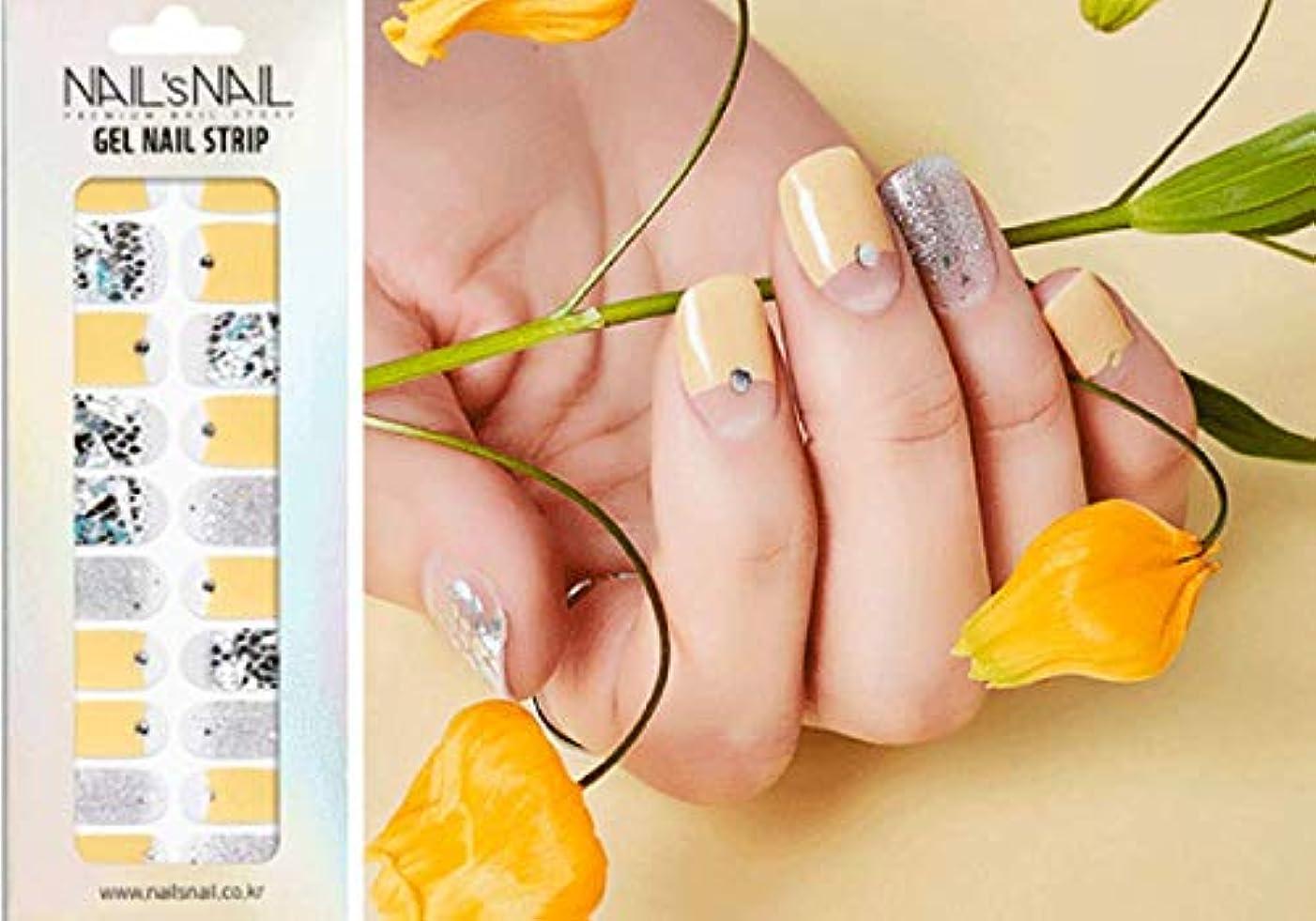 冷淡なすり減るジャーナル\貼るジェルネイル/Nail's Nail(ネイルスネイル) ジェルネイルストリップ 113