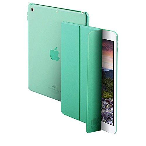 MS factory iPad 9.7 ケース カバー 2017 新型 第5世代 スマートカバー 新型iPad オートスリープ ケースカバー 全10色 エメラルド グリーン ミント IPD-5-SMART-GRN
