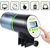 IDREAMO Automatic Fish Feeder, Auto Fish Turtle Feeder for Aquarium and Fish Tank, Vacation & Weekend USB Rechargeable Timer Intelligent Fish Feeder Moisture-Proof Fish Food Dispenser