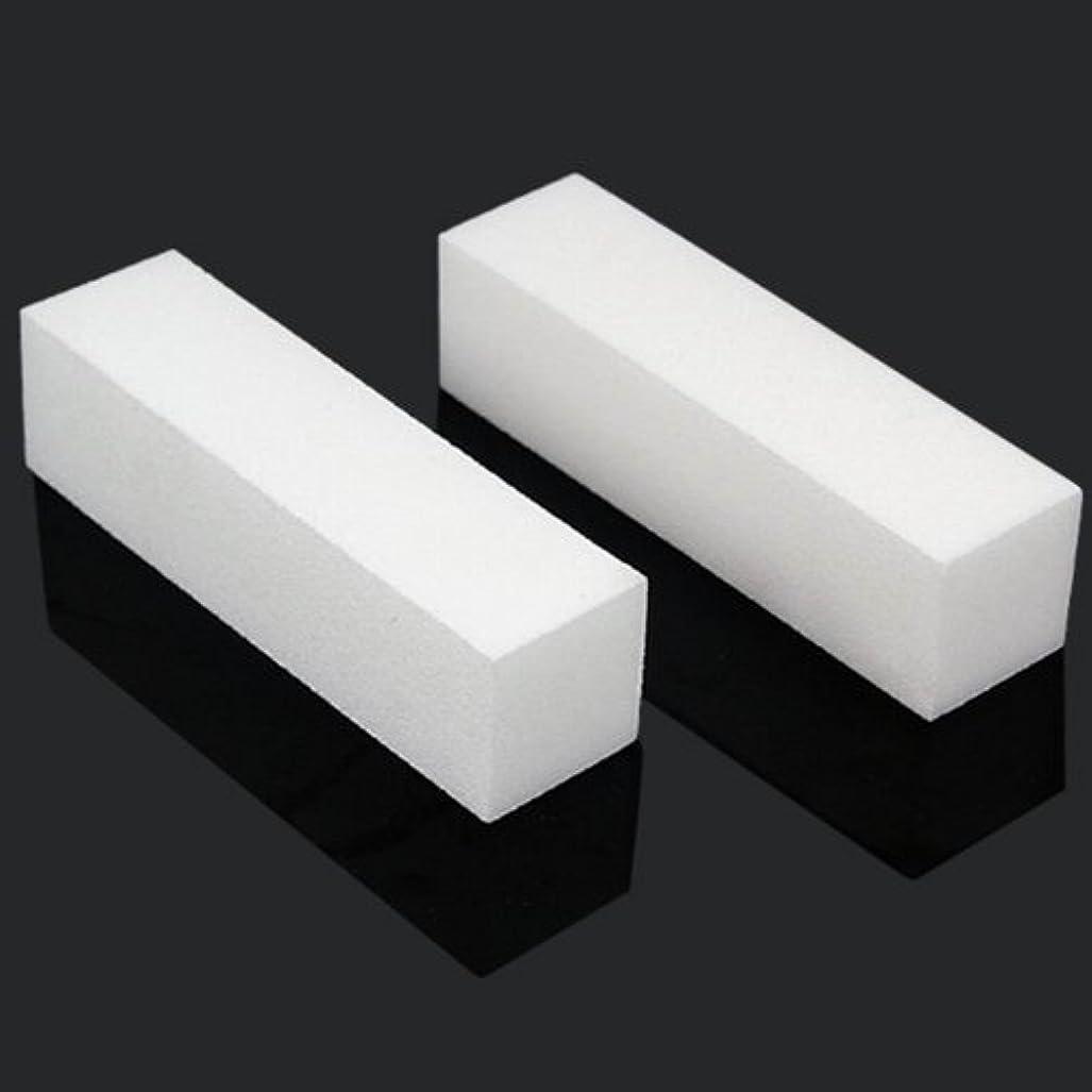 本質的に犯す強制的ACAMPTAR 10x白いのアクリルネイルアートのバフ研磨のツール、マニキュアツール