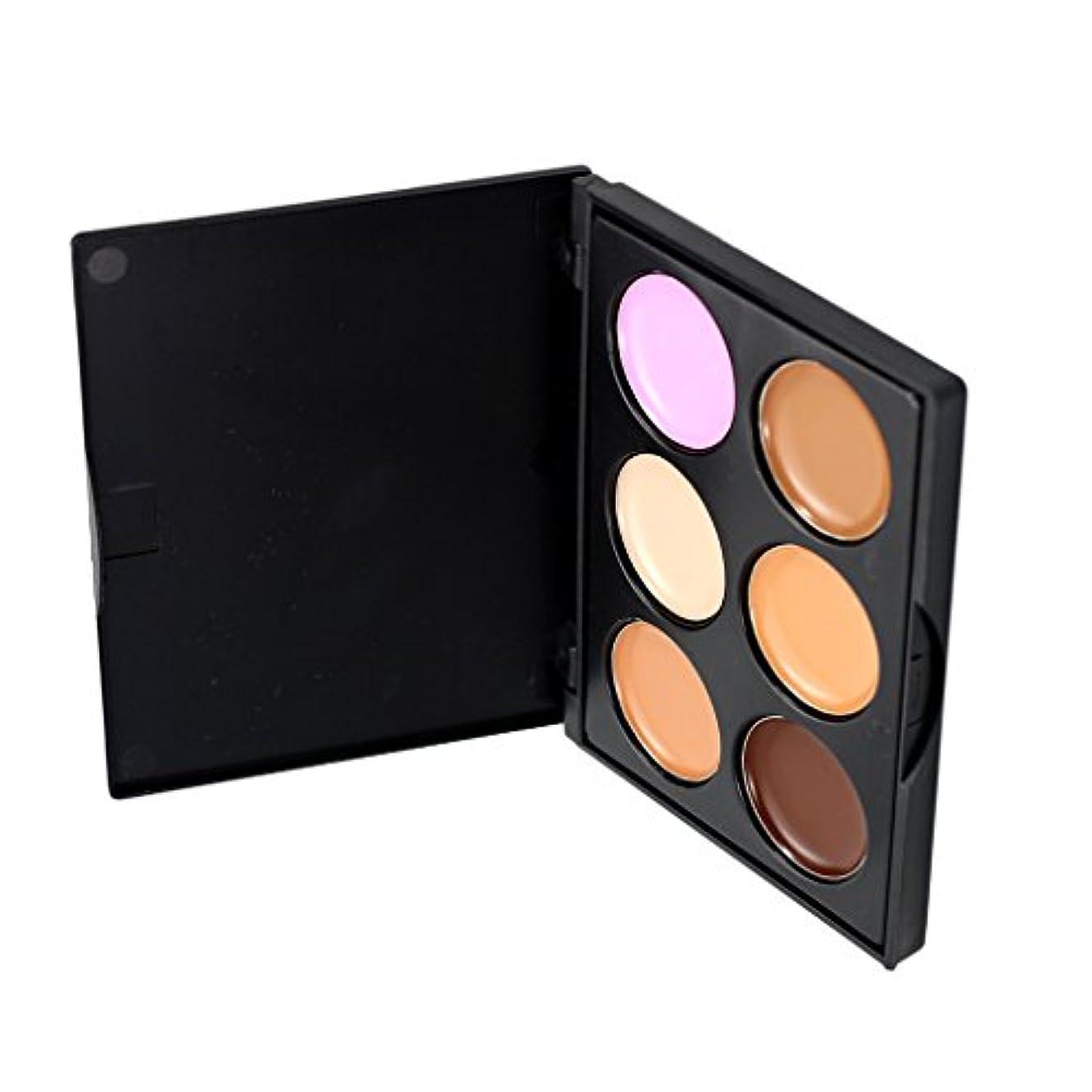 マカダムコントロールまた明日ねKesoto コンシーラー 6色パレット 化粧用 コンター フェイス 全3種選択可能     - #2