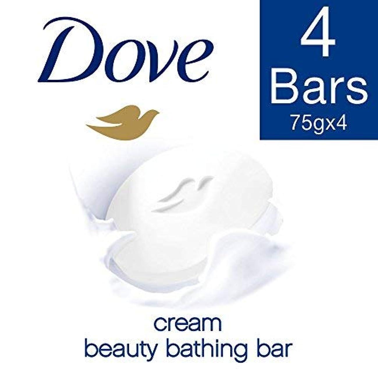 暗殺者ポーズローズDove Cream Beauty Bathing Bar, 4x75g