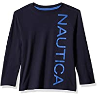 Nautica Baby Toddler Boys' Long Sleeve Solid Crew Neck T-Shirt