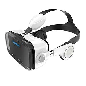 Leelbox 3D VR ゴーグル ヘッドフォン一体型VRボックス より広く視野 3D 動画を手軽に楽しめる (4〜6.2インチのスマートフォンに適合) 最新型