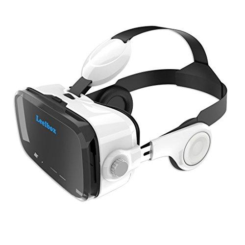 Leelbox 3D VR ゴーグル ヘッドフォン一体型VRボックス より広...