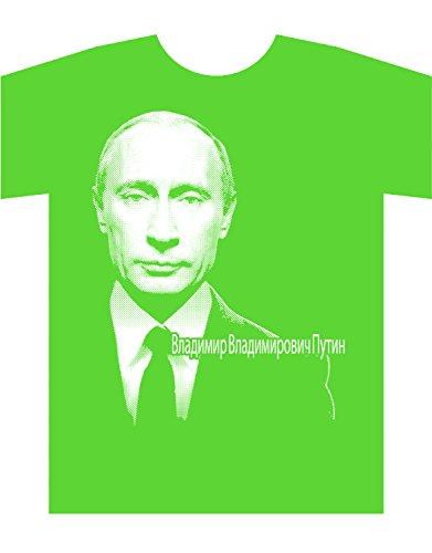 Tシャツ プーチン Vladimir Vladimirovich Putin Владимир Владимирович Путин (ライムグリーン M)