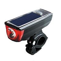 自転車 ライト ソーラー ベル 自転車 LEDライト ヘッドライト USB充電式 ソーラー充電 4モード搭載 ハイモード/ローモード/ストロボモード/SOSモード 高輝度350LM ライトホルダー付き 取り付け簡単 後照灯贈り ライト、ベルセット