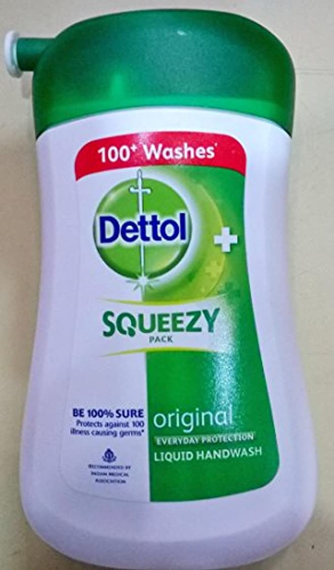 深さ衛星貸し手DETTOL SQUEEZY PACK LIQUID HANDWASH 100ML
