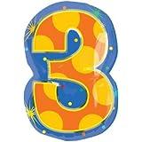 バルーン 数字 【3】 誕生日 ヘリウムガス入り mb-066-3