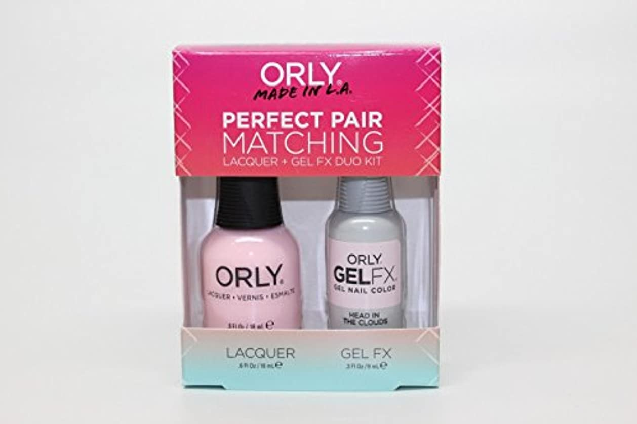 不正直収益ペイントOrly - Perfect Pair Matching Lacquer+Gel FX Kit - Head In The Clouds - 0.6 oz / 0.3 oz