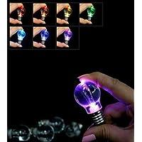 面白い !! LED 電球型 ライト レインボーカラー に 光る キーホルダー 【 5個セット 】 夜間 暗闇 等の ちょっとした光に 【kj264】