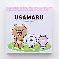 かわいいラビットフォックスメモパッド かわいいNタイムメモ ミニ100ページ ポケットメモ帳 プランナーステッカー 10色 日本製文房具