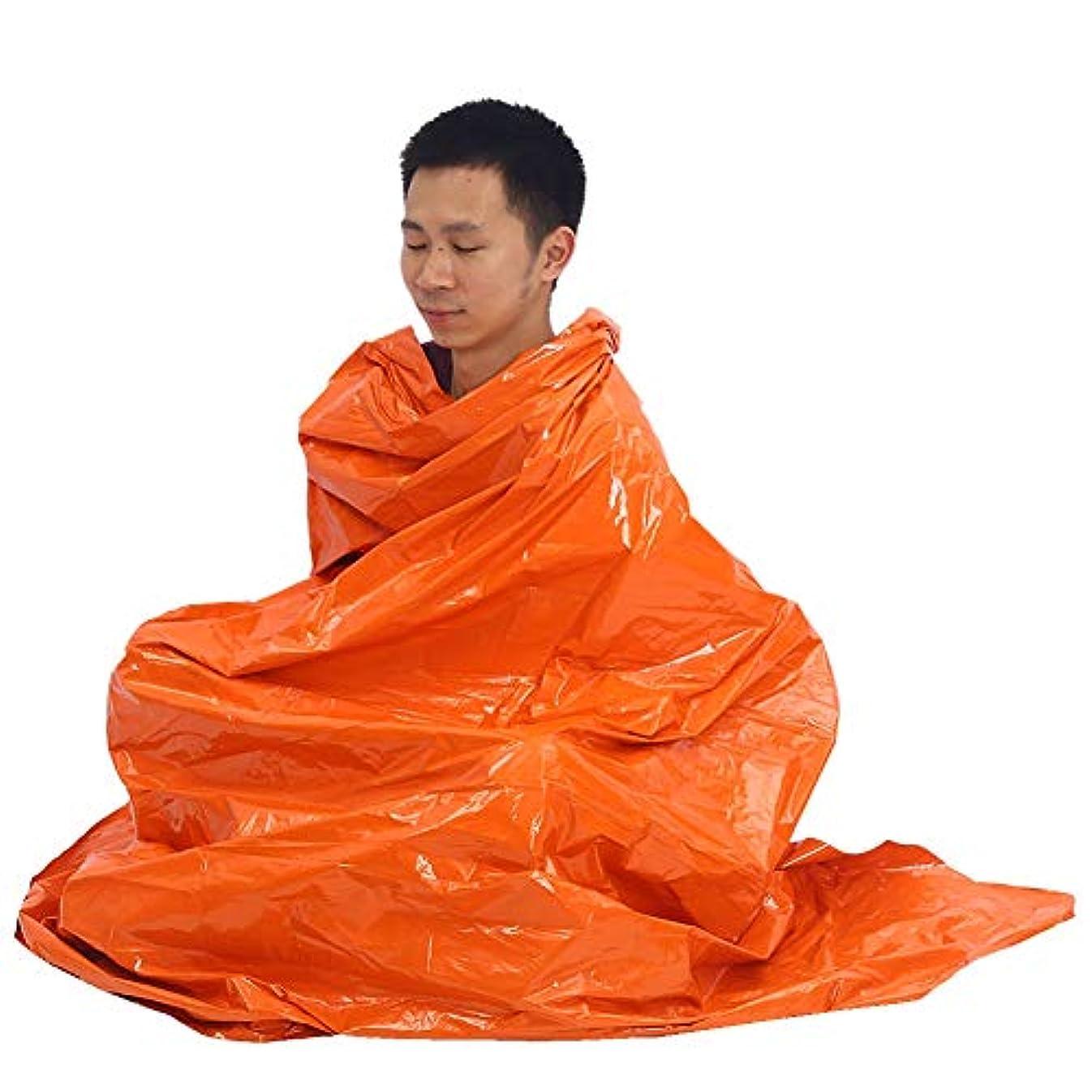 委員長好色な続けるブランケット 毛布 アウトドアレスキューブランケット 緊急毛布 緊急用寝袋/毛布/テント 震災、地震、津波、アウトドア緊急用 オレンジ
