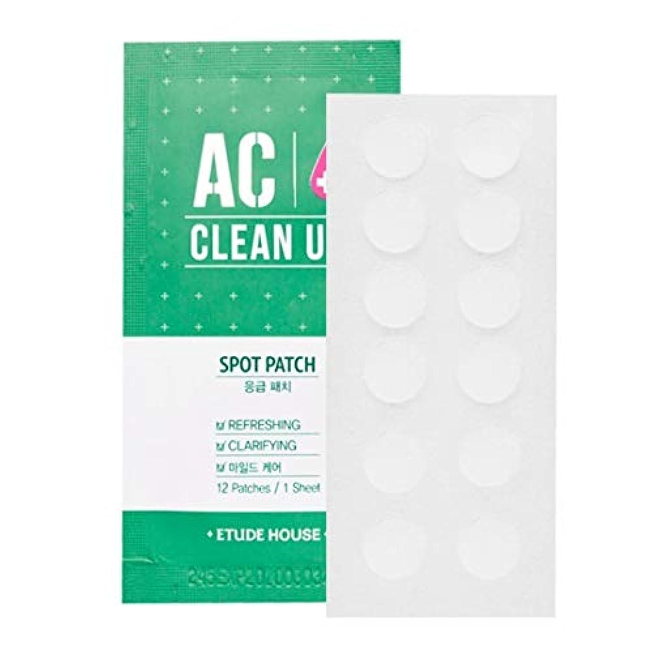ドラッグしわ順応性のあるETUDE HOUSE AC Cleanup Patch 10pcs / エチュードハウスACパッチ10枚/ にきびパッチ [並行輸入品]