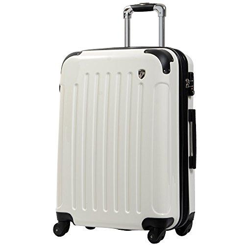M型 シルクホワイト/KY-FK37 TSAロック搭載 キャリーケース スーツケース 鏡面加工 (4?7日用)