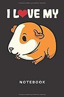 Notebook: Meerschwein | Notizbuch | Notizheft | Schreibbuch | Meerschweinchen | Hamster | Schwein | 110 Seiten | Liniert | Linien | Liebe