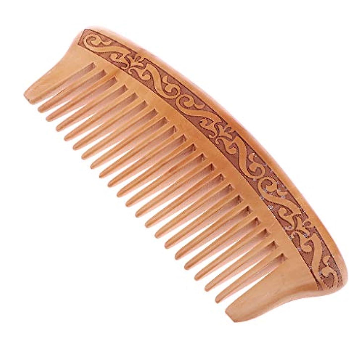 機械的に頑固な回想木製櫛 コーム ヘアブラシ 静電気防止 頭皮マッサージ 快適 5タイプ選べ - J16e