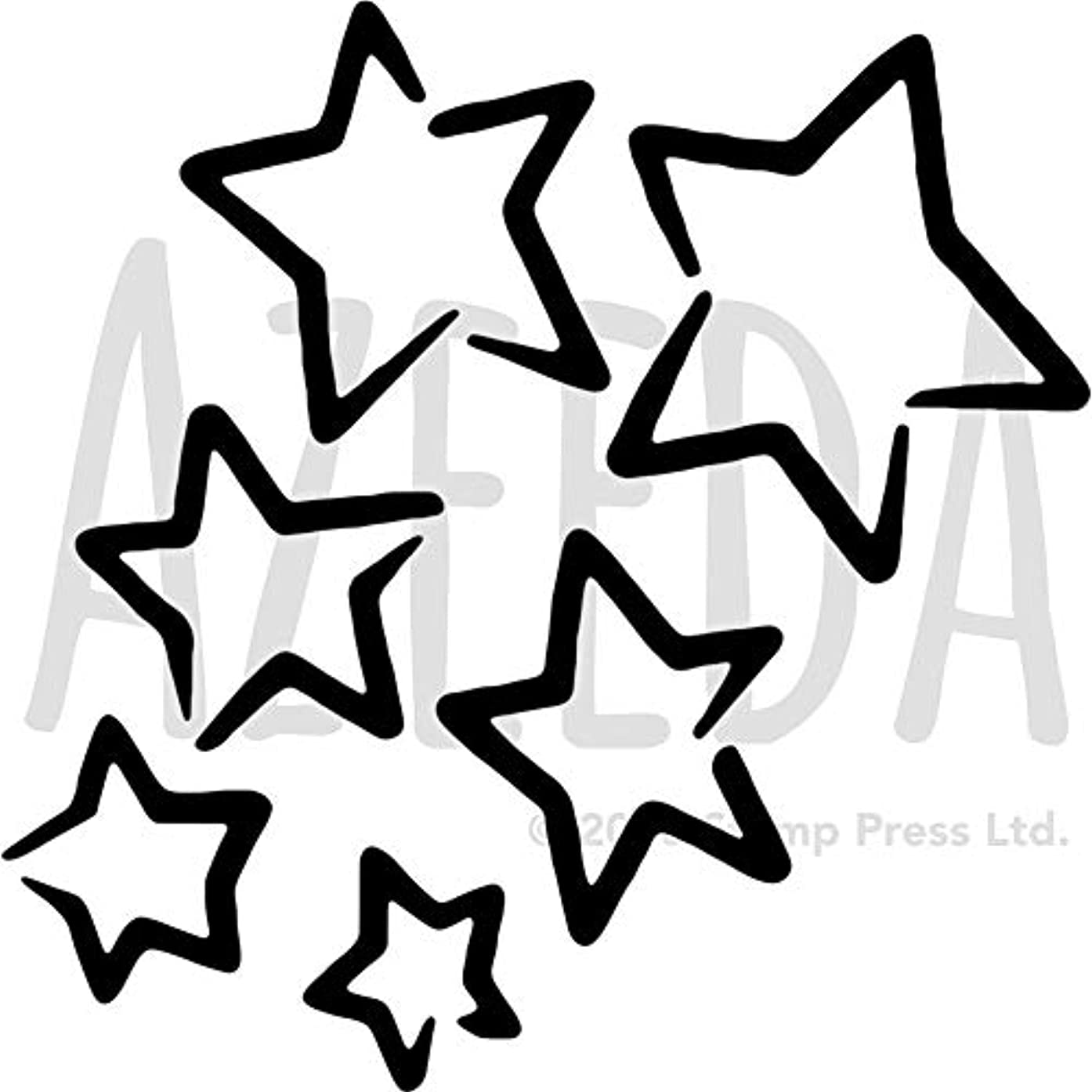 汚染するなに魔法Azeeda A3 「星」壁ステンシル/テンプレート (WS00028174)