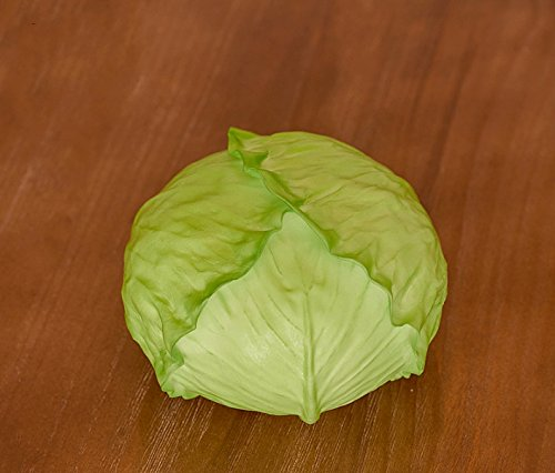Elegantflower 本物そっくり リアル野菜模型 食品模型 食品サンプル インテリア ディスプレイなどに キャベツ 1個