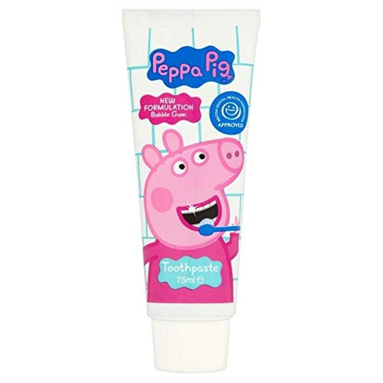 夜の動物園西虚弱[Peppa Pig] ペッパピッグバブルガム歯磨き粉75ミリリットル - Peppa Pig Bubble Gum Toothpaste 75ml [並行輸入品]