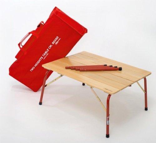 カステルメルリーノ(Castelmerlino) イタリア製 折りたたみ ハイ&ローテーブル (80 X 60cm) No.46H