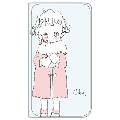 Caho Galaxy S9 Plus SM-G9650 ケース 手帳型 薄型プリント手帳 コートと少女B (ch-017) カード収納 ストラップホール スタンド機能 WN-LC582702-LL