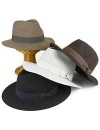 ノーブランド品 ウールフエルトフェドラ中折 ヤング帽子