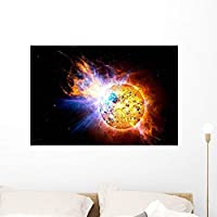 Wallmonkeys Flare Star Known as Wall Mural by Peel and Stick Graphic (36 in W x 24 in H) WM8696 [並行輸入品]