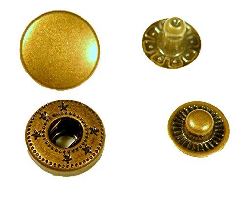 バネホック 50セット 10mm アンティーク 10mm アンティーク