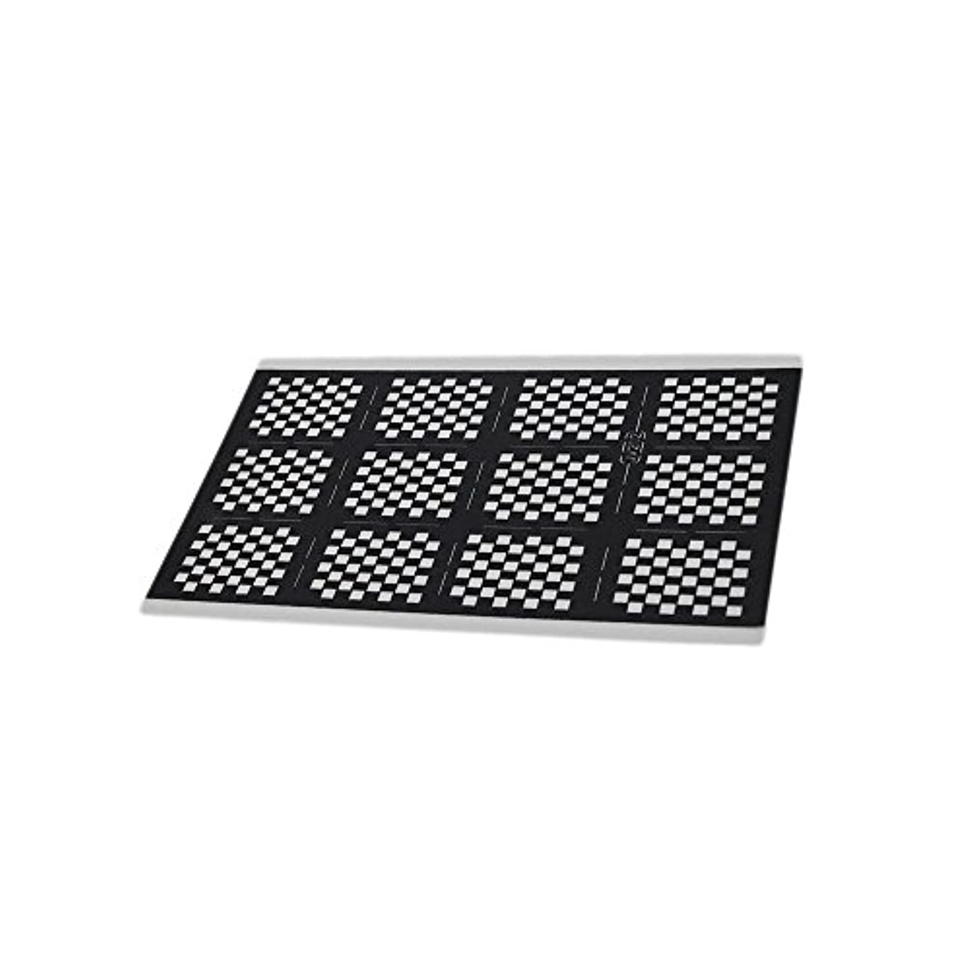 限りなく面白いシャイNina ネイルステッカー 【12.5cm×7.5cm ブラック ブロックチェック 2枚セット】市松模様 ネイルシール テープ デコパーツ クラフト素材