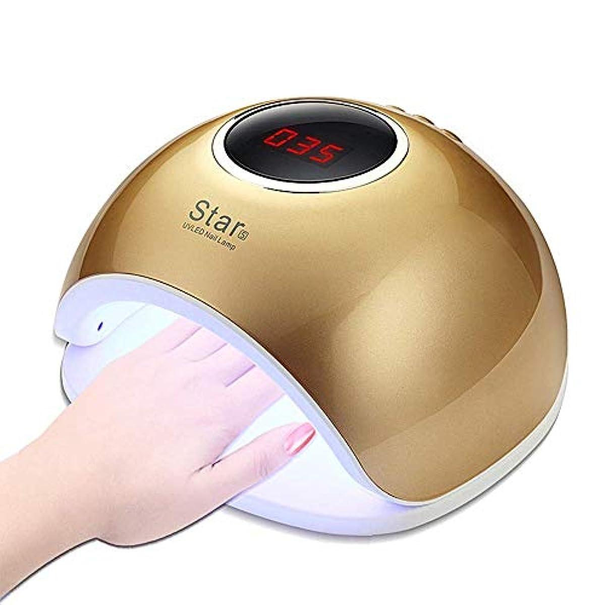 幻想的追放するスロベニアLEDネイルランプ、72Wプロフェッショナルスマートセンサー速乾性痛みのないモードUVネイルドライヤー33ダブル光源ビーズ、4タイマー設定