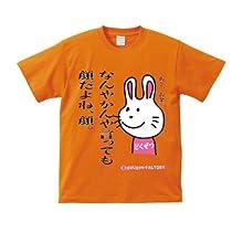毒舌うさこシリーズ ≪ なんやかんや言っても顔だよね、顔。 あと、お金。 ≫ おもしろメッセージTシャツ ORT-21031 Mサイズ オレンジ