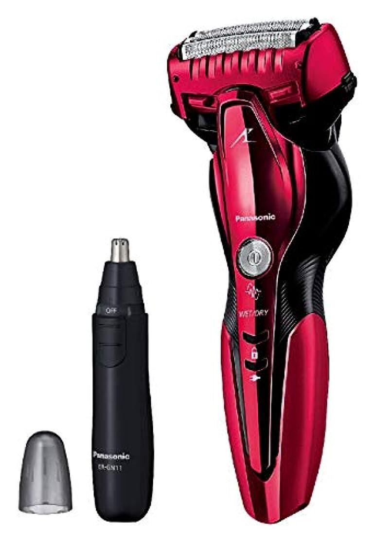 失礼たるみキャメルパナソニック ラムダッシュ メンズシェーバー 3枚刃 お風呂剃り可 赤 ES-ST6Q-R + エチケットカッターER-GN11-K セット