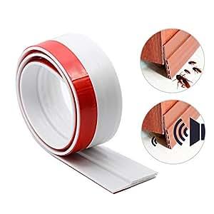 LEFON すき間風防止テープ ドア下部シールテープ 防虫 防音 防風 防水 気密シール 粘着性高い ゴキブリ対策 玄関 ドア 室内 1m (ホワイト)