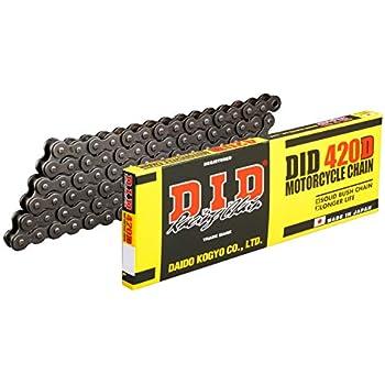 D.I.D(大同工業)バイク用チェーン クリップジョイント付属 420D-130RB STEEL(スチール) 二輪 オートバイ用