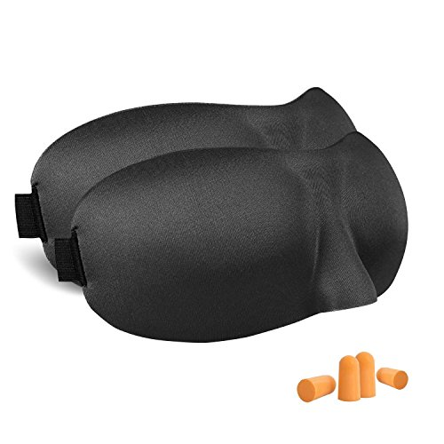 【2枚セット】アイマスク 安眠 立体型 longzon 睡眠 昼寝 旅行 遮光 軽量 軽い 眼精疲労 疲労回復 圧迫感なし 耳栓付き