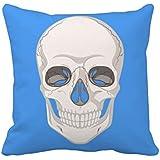 頭蓋骨のメディカル・イラストレーション スクエアな枕を挿入してクッションカバーの家のソファの装飾贈り物 50cm x 50cm