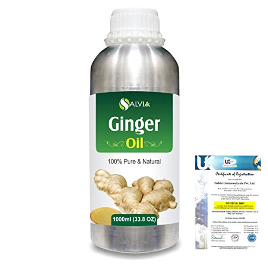 予測子愛国的な狂気Ginger (Zingiber officinale) 100% Natural Pure Essential Oil 1000ml/33.8fl.oz.