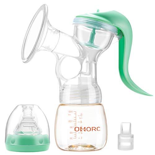 搾乳器 手動 OMorc PPSU母乳びん 2段階吸引力調節 逆流防止 安全材料 操作簡単 BPAフリー