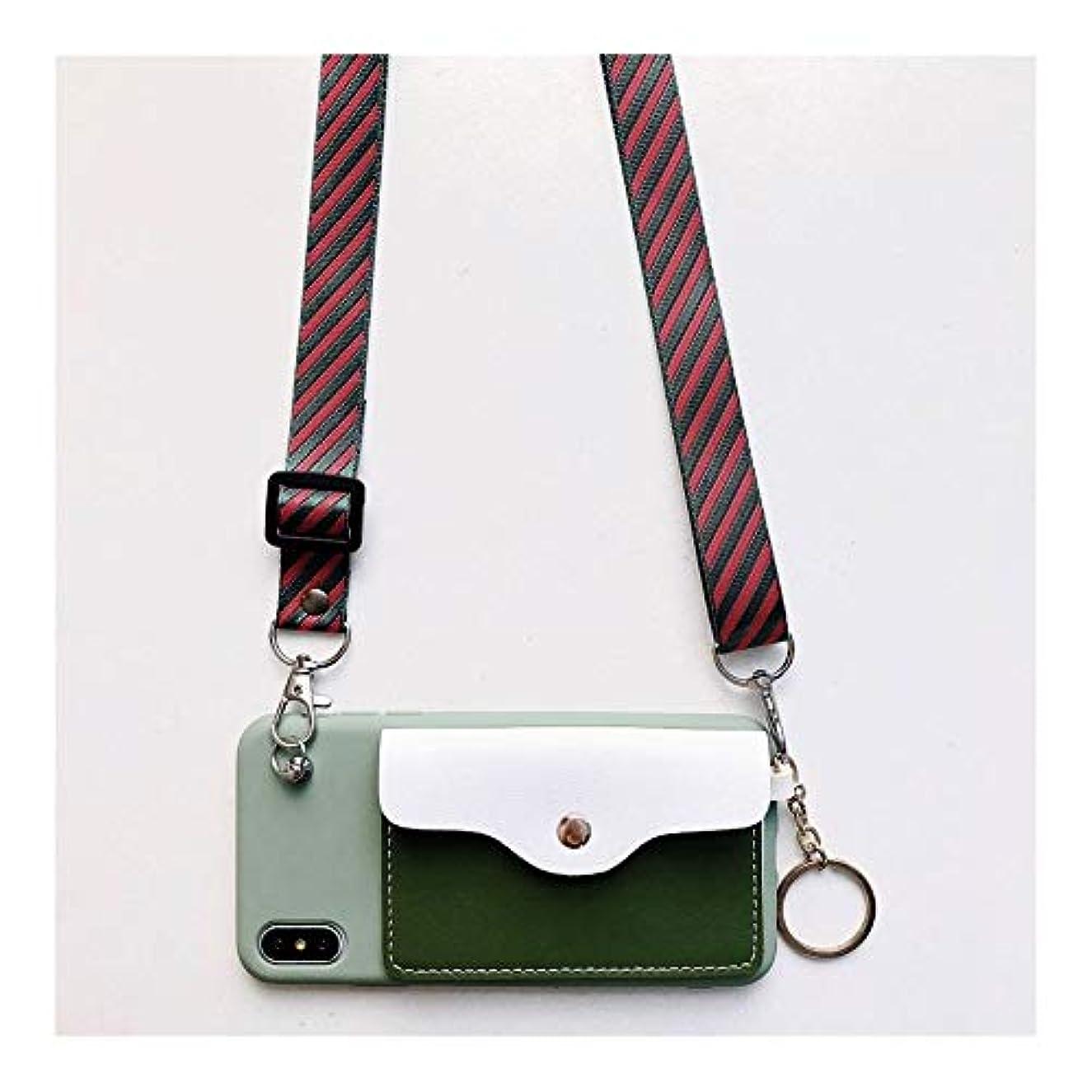 パシフィックチーター米国DingFaS ソフトスマホケース for Iphone 11/XS/X/XS/8/7/6 かわいい 携帯ケース 軽量 保護ケース カバー 小銭入れ ポケット付き スマートホンケース (Color : 緑, Size : Iphone6/6S)
