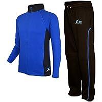 X-2 Mens Athletic Full Zip Fleece Activewear Tracksuit Jogging Jacket Sport Suit Sets