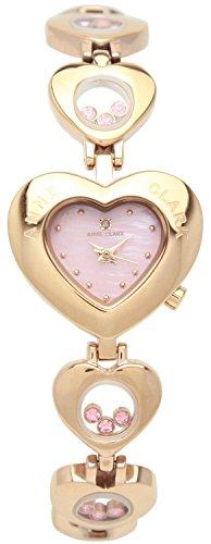 [アンクラーク]ANNE CLARK 腕時計 1P 天然 ダイヤモンド ハート型フェイス ムービングカラーストーン ピンクゴールド AU-1031-17PG レディース