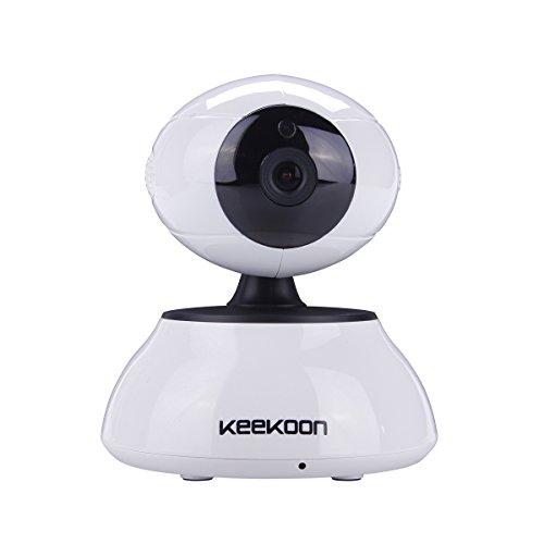 Keekoon ネットワークカメラ IP WEB WIFIカメラ 100万画素 防犯監視カメラ 暗視撮影 マイク内蔵 ペット ベビーモニター CK-01