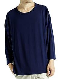 (モノマート) MONO-MART ヘムライン ドルマン カットソー Uネック 長袖 ビッグシルエット Tシャツ メンズ