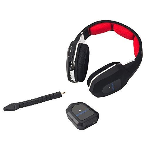 『HAMSWAN 2.4GHzワイヤレスゲーミングヘッドセット PC/MAC/PS3/PS4/XBOX 360などに対応 Kinect動作確認済 超多機能 ステレオ 着脱式マイク 充電式 ノイズキャンセル 高音質 音量調節機能付き』の5枚目の画像