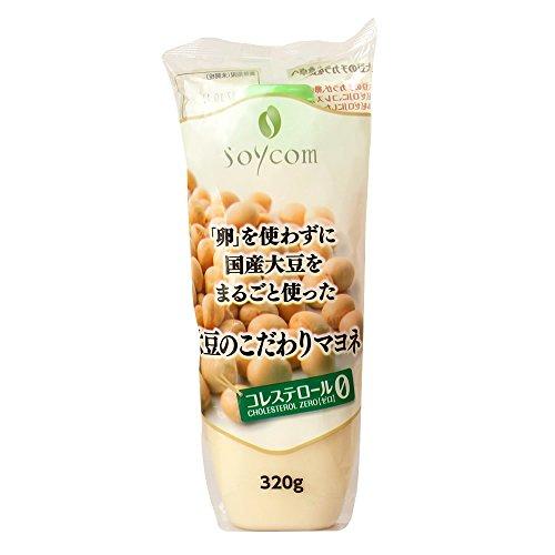 [2017年 リニューアル | 卵不使用・コレステロールゼロ・脂質17%カット・カロリー15%カット] 大豆のこだわりマヨネ 320g