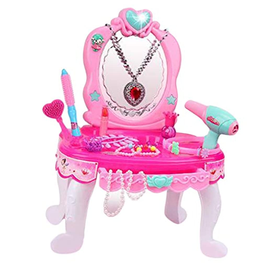 ジュニア送金申込みドレッシング テーブル 知育玩具 ミラー ネックレス メイクふりおもちゃ 女の子 ロールプレイセット